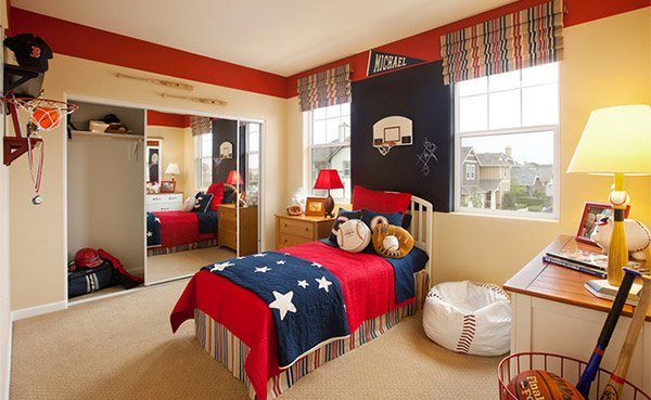 Trendy Get Athletic With Sports Bedroom Ideas Home Design Lover With Bedroom  Themes.