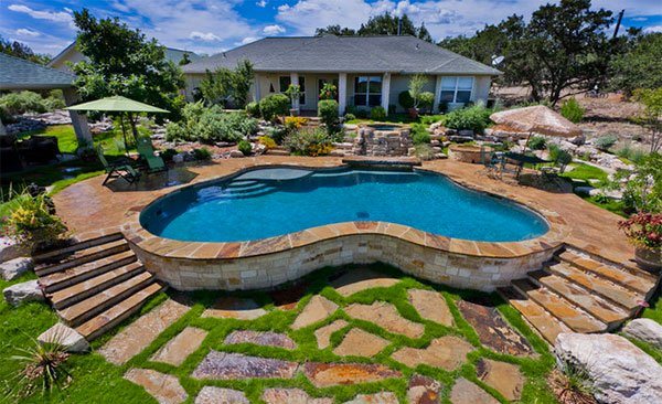 Pool Paver Ideas vinyl pool gray coping limestone pool coping white limestone pool bluestone paving with black pool ideas pinterest pool coping Kidney Shaped Pool