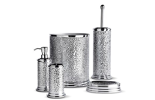 silver bathroom accessories sets,