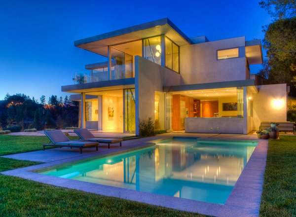 Lovely Swimming Pool House Designs   Home Design LoverModern architecture