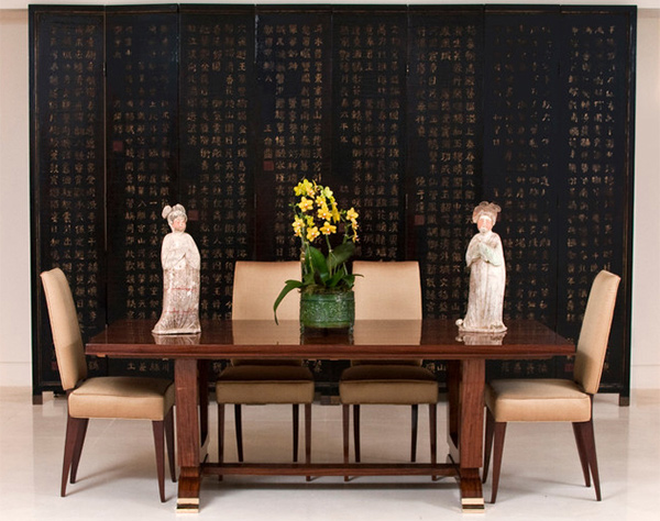 Asian Inspired Dining Room