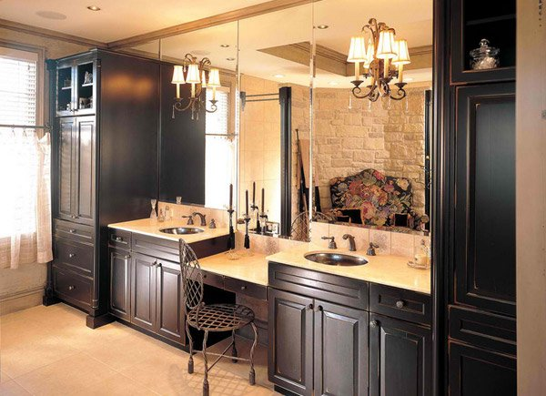 15 Traditional Tall Bathroom Cabinets Design | Home Design Lover