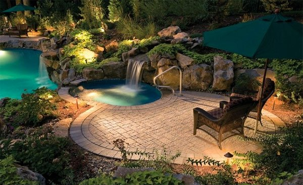 swimming pool stone decks
