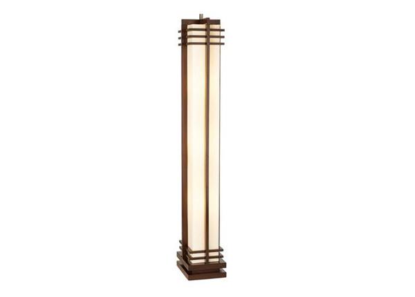 Deco Style Walnut Column