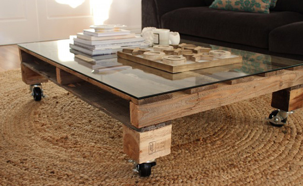 wheeled Pallet Table