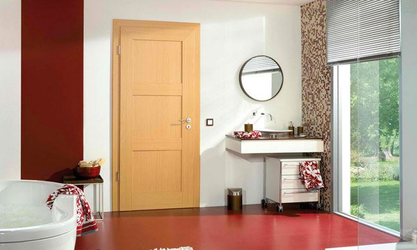 simple wooden door. 15 Wooden Panel Door Designs   Home Design Lover