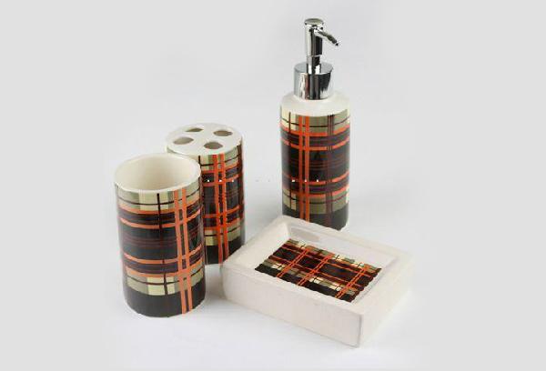 Beautiful Grid Ceramic Bath Accessory
