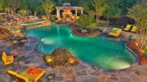 stone pool deck