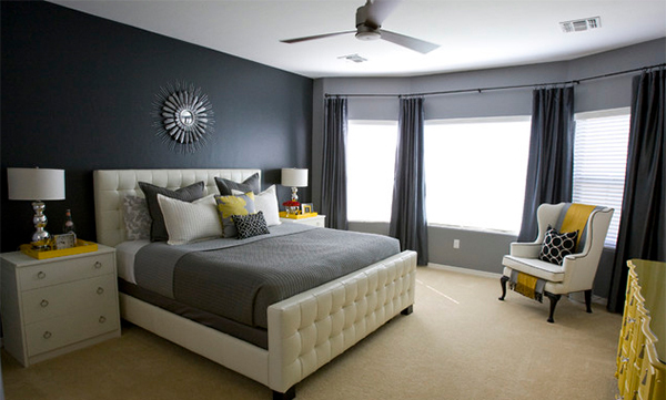 Visually Pleasant Yellow And Grey Bedroom Designs Home Design, Part 62