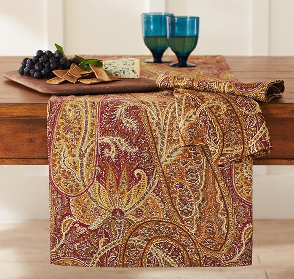 Aurora Paisley Print Table Runner