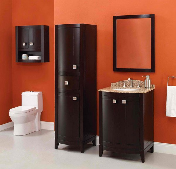 orange vanity room. 15 Modern and Contemporary Tall Cabinets Ideas   Home Design Lover