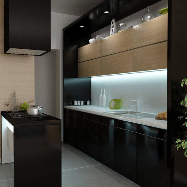 15 Astonishing Black Kitchen Cabinets | Home Design Lover