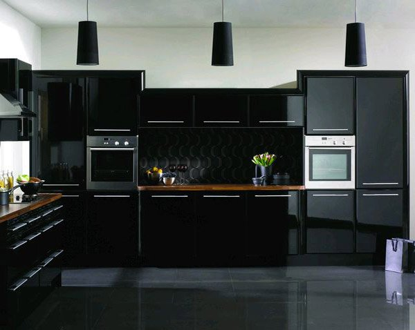 astonishing black kitchen cabinets  home design lover,Kitchen Cabinets Black,Kitchen ideas