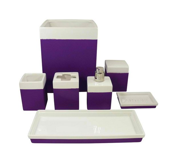 Bathroom Accessories purple bathroom accessories : 15 Elegant Purple Bathroom Accessories | Home Design Lover
