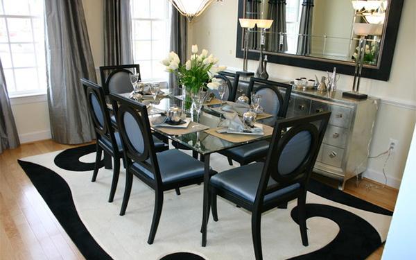 Model home dining room furniture