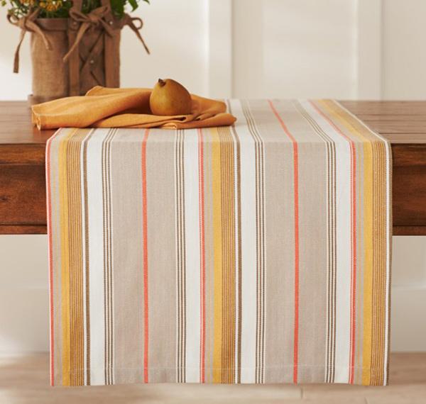 Herringbone Striped Table Runner