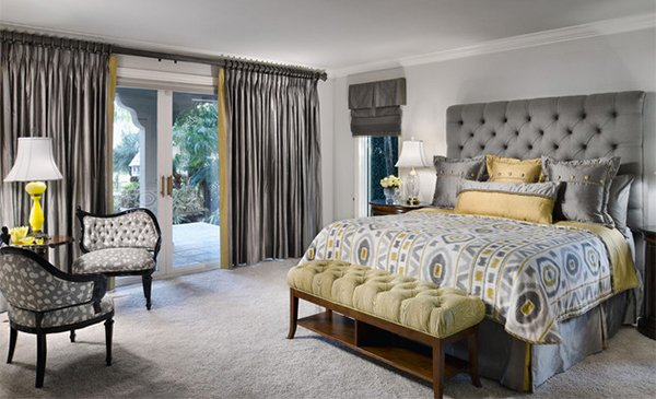 15 visually pleasant yellow and grey bedroom designs | home design