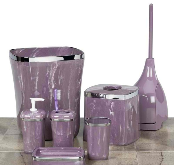 elegant purple bathroom accessories  home design lover, Bathrooms