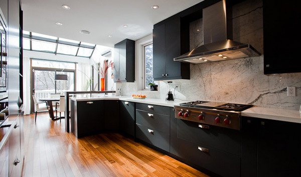 15 Astonishing Black Kitchen Cabinets | Home Design Lover