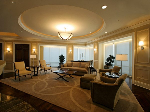 area carpet custom - Formal Living Room Design Ideas