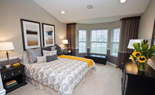 visually pleasant yellow and grey bedroom designs  home design, Bedroom decor