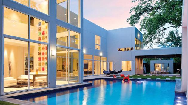 inground modern pool