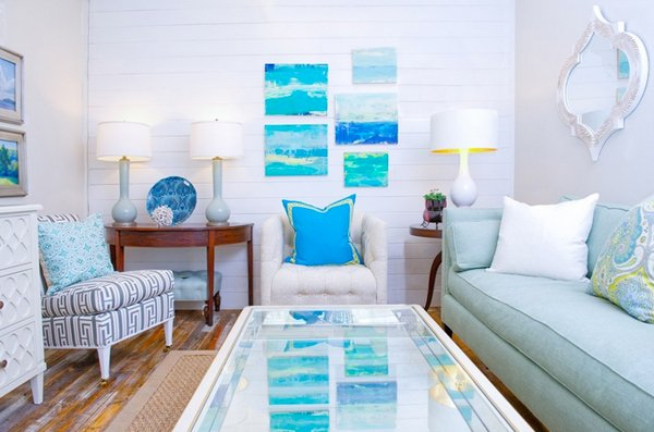 beach-themed living rooms