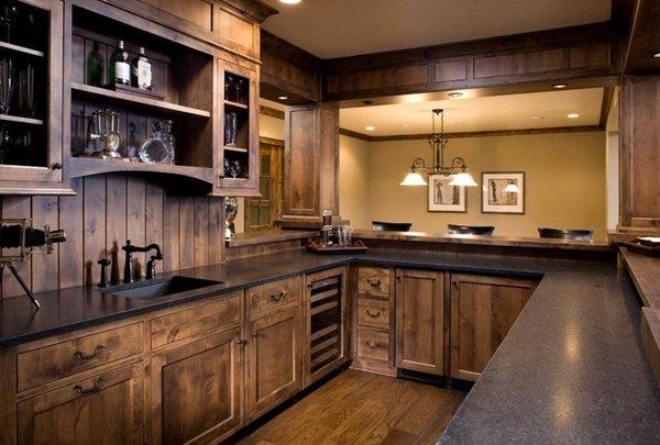 interesting rustic kitchen designs  home design lover,Dark Rustic Kitchen Cabinets,Kitchen decor