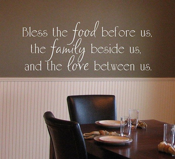 Bless the Food wall decals