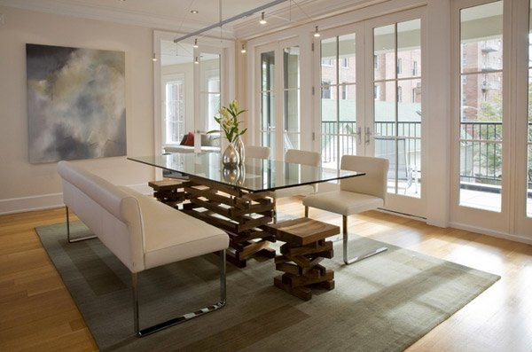 15 Lovely Glass Table Dining Rooms Home Design Lover