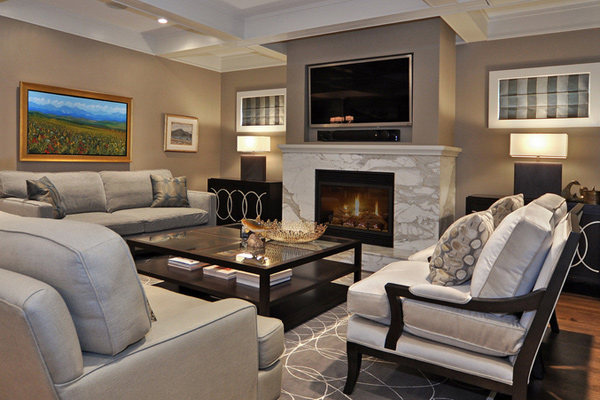 television screen  Johnson   Associates Interior Design. 15 Modern Day Living Room TV Ideas   Home Design Lover