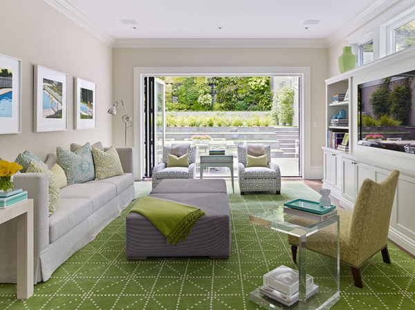 grey green living rooms