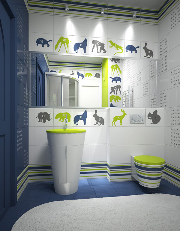 Green Kids Bathroom. 18 Colorful and Whimsical Kid s Bathroom   Home Design Lover