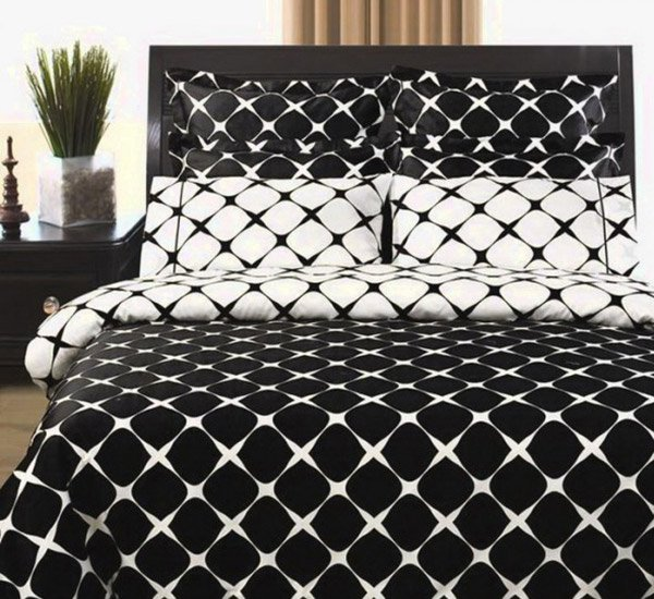 white and black bed sheets.  White 9pc Modern Reversible 400tc Black White Bed In A Bag Luxury Linens With And Sheets