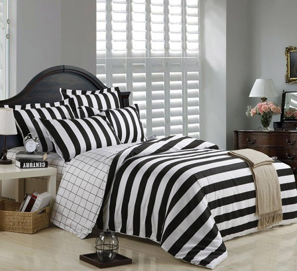 Striped Duvet Cover Bedding Sets