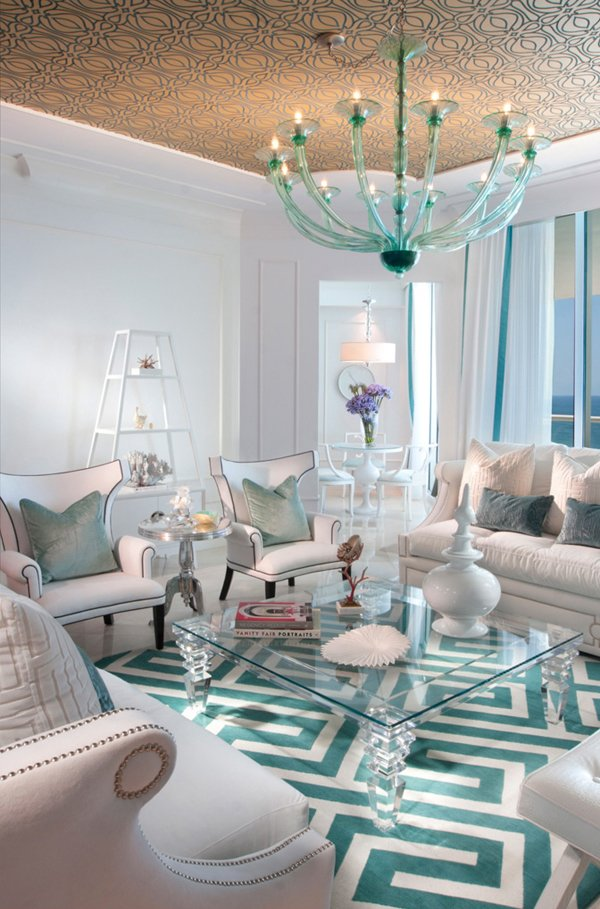 chic turquoise modern living room - Living Room Ideas Turquoise