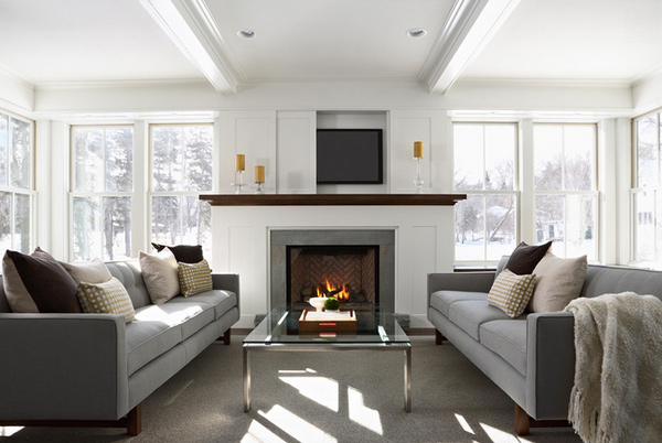 TV cover. 15 Modern Day Living Room TV Ideas   Home Design Lover