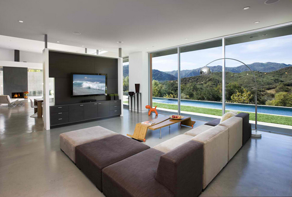 wall paneling. 15 Modern Day Living Room TV Ideas   Home Design Lover