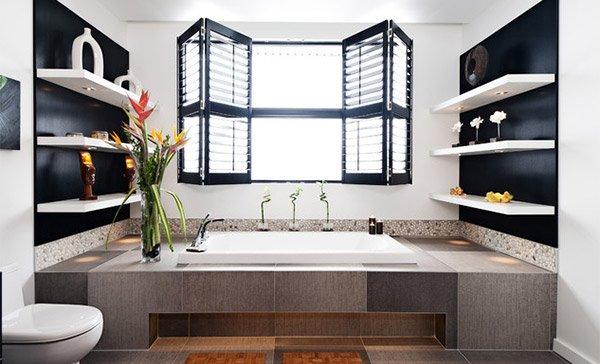Contemporary Home Bathroom Shelves