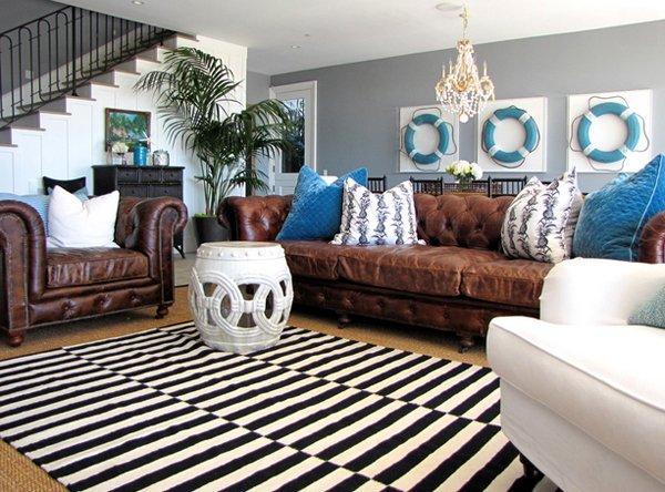 black white rug