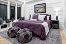 bw purple bedroom
