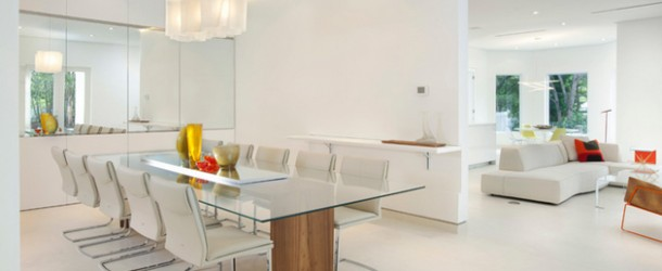 glass dine table