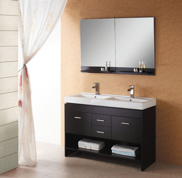 Gloria 47.2 Inch Double Sink Bathroom Vanity Set