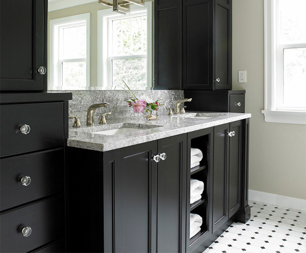 Tudor House Ensuite. 15 Black Bathroom Vanity Sets   Home Design Lover