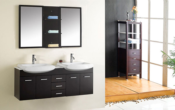 Lacquer Bathroom Vanity (T9129)