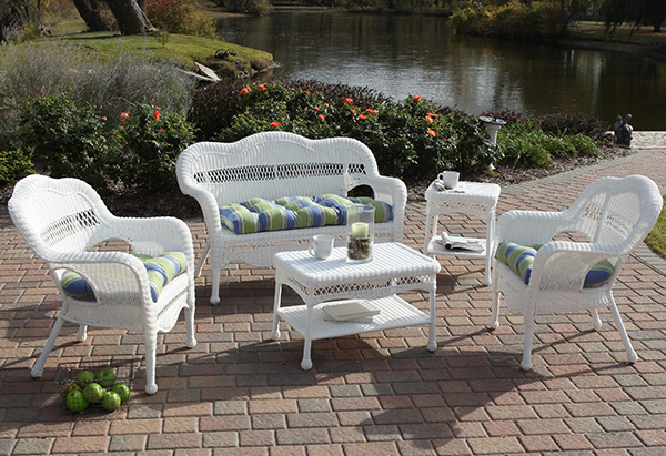 outdoor design - Get The Classic Charm Of 15 White Wicker Furniture Home Design Lover