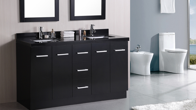. 15 Black Bathroom Vanity Sets   Home Design Lover