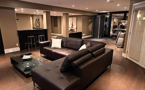 15 Modern And Contemporary Living Room Basement Designs | Home