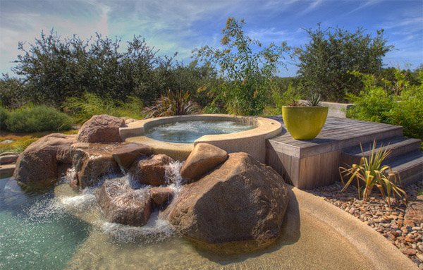 natural pool area