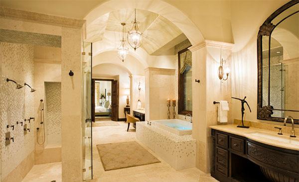Strange 15 Beautiful Mediterranean Bathroom Designs Home Design Lover Largest Home Design Picture Inspirations Pitcheantrous
